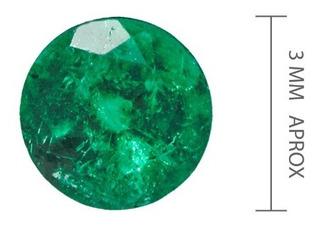 Esmeralda Certificada De 3mm