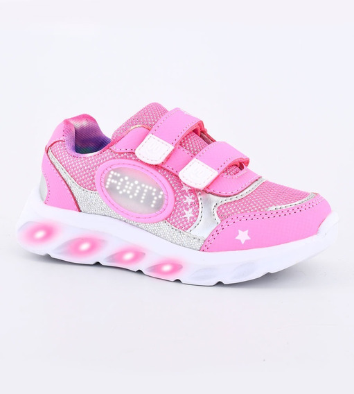 Zapatillas Niñas Bubble Mini Glitter Con Luces Footy Fx380