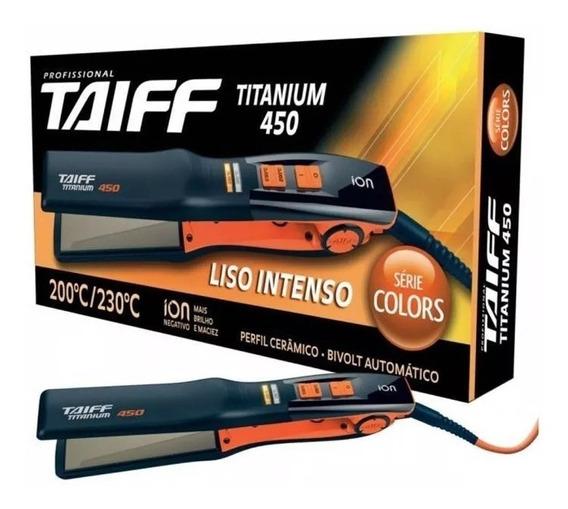 Taiff Prancha Chapinha Titanium 450 Laranja Serie Colors Bivolt - Pronta Entrega - Original - #a Melhor - Profissional