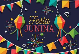 Painel De Festa Em Lona Festa Junina Bandeirinhas 2,2x1,50m