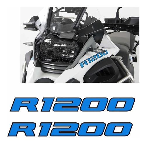Adesivo Emblema Paralama Bmw R1200 Gs Adventure Azul Par