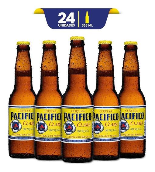 Cerveza Clara Pacifico 24 Botellas De 355ml C/u