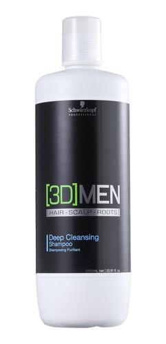 Imagem 1 de 2 de Schwarzkopf Prof. 3d Men Deep Cleansing Shampoo Litro Full