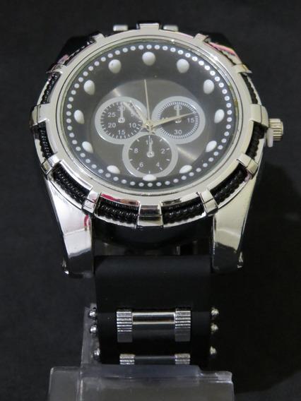Relógio Bolt Zeus Masculino Prata Grande Luxo Barato C316