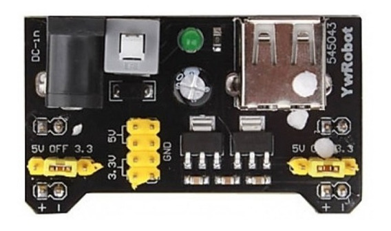 Fonte Ajustável Protoboard 3.3v/5v Ideal P/ Arduino Pic
