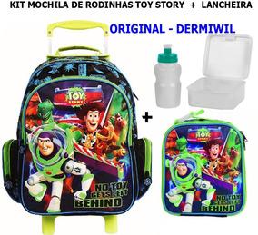 Kit Mochila Rodinhas Toy Story + Lancheira Dermiwil