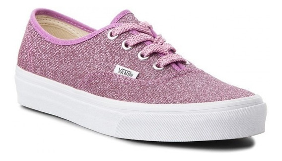 Tenis Vans Authentic Lurex Glitter Mujer Skool Casual Skate