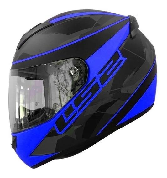 Casco Moto Integral Ls2 352 Recruit Negro Mate R Devotobikes
