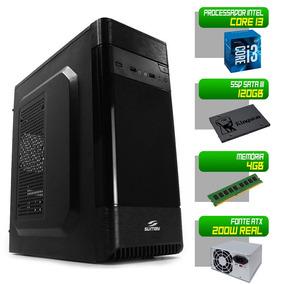 Computador Completo 1155 I3 2100 4gb Ddr3 Ssd 120gb Pc