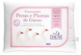2 Travesseiros Daune Penas E Plumas De Ganso 0.50x0.70