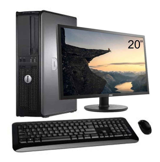 Cpu Dell Optiplex Core 2 Duo 8gb Ssd 120gb + Monitor 20