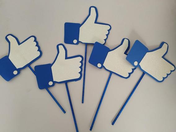 Centro De Mesa Logo Facebook Like De Foamy/eva. Kit Con 5pz