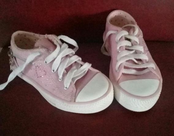 Zapatillas De Lona Nena - Talle:28