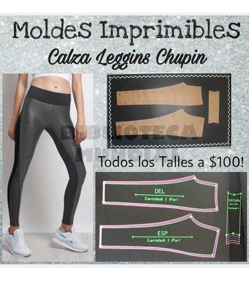 Moldes Patrones Imprimibles Calza Leggins Corte Lateral