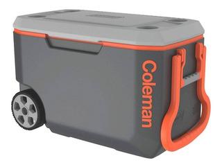 Caixa Térmica C/ Rodas Coleman 62qt Xtreme 58,7 Litros Cinza