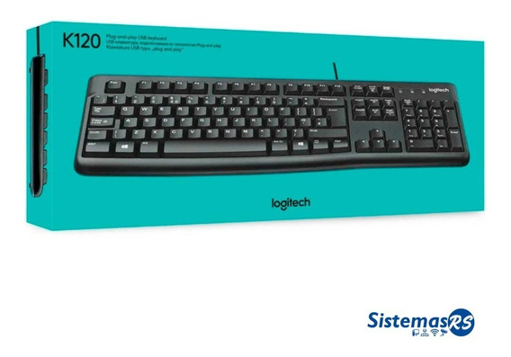 Teclado Usb Logitech K120 Laptop Pc