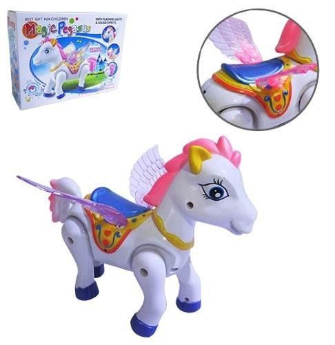 Cavalo Com Movimento Magic Pegasus Com Som E Luz A Pilha**