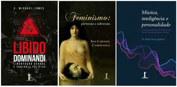 Kit 3 Livros - Libido + Feminismo + Música