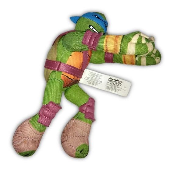 Boneco Pelúcia Leonardo Tartarugas Ninja Mc Donalds 16,5cm