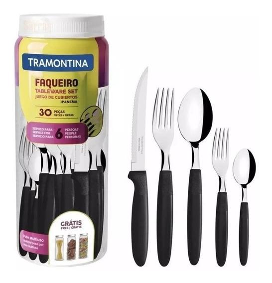 Faqueiro Ipanema Aço Inox 30 Pçs 23398088 Tramontina