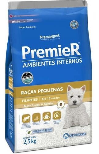 Ração Premier Pet Ambientes Internos Cães Filhote