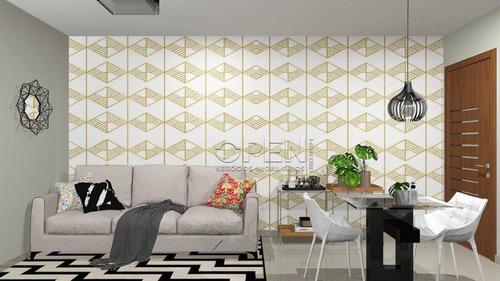 Apartamento Com 2 Dormitórios Com 1 Suíte  À Venda, 57 M² Por R$ 295.000 - Vila Pires - Santo André/sp - Ap12320