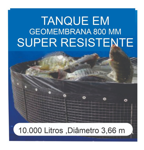 Imagem 1 de 6 de Kit Tanque 10.000l,geomembrana,testes, Fertilizantes E Curso