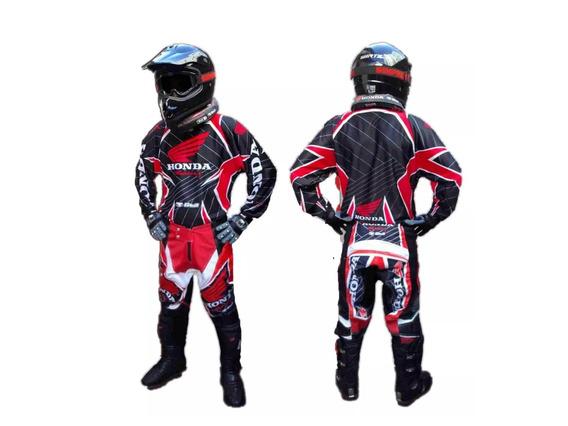 Conjunto Motocross Honda Pantalon Y Buzo