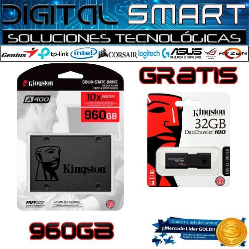Imagen 1 de 4 de Disco  Solido Ssd Kingston A400  960 Gb 10x Pc Laptop