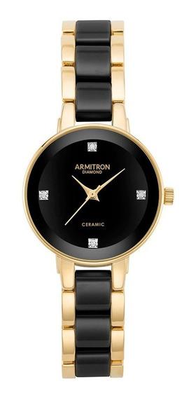 Reloj Armitron Para Dama Dorado/negro 755532bkgp