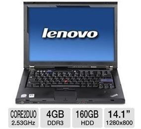 Notebook Intel 2.4ghz 4gb 320gb Lenovo Original Wifi W7pro