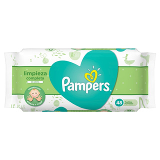 Toallitas Pampers X48 Sin Aroma Limpieza Completa