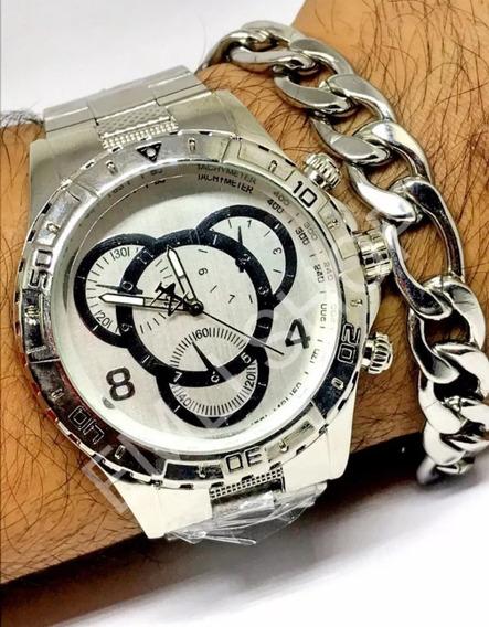 10 Kits Masculinos Relógio+pulseira C/caixa Atacado Garantia