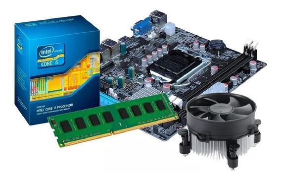 Kit Processador I5 - 3470 + Placa Mãe H61 + 4gb Ddr3 + Nfe