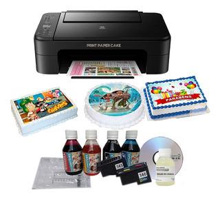 Impressora Wi-fi / Topper E Papel Arroz C/ Tinta Comestível