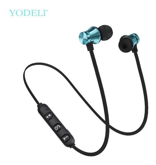 Fone De Ouvido Bluetooth Wireless Estéreo Sem Fio Azul