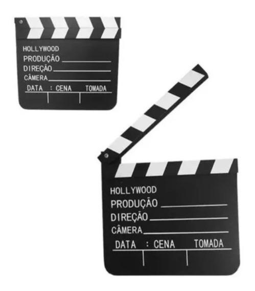 Claquete Cinema Madeira 30x28,5cm Enfeite Decoração + Brinde
