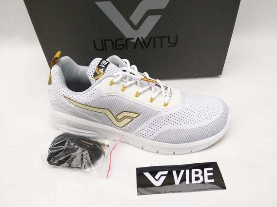 Tênis Vibe Shoes Prolific Branco Dourado Sneaker Original