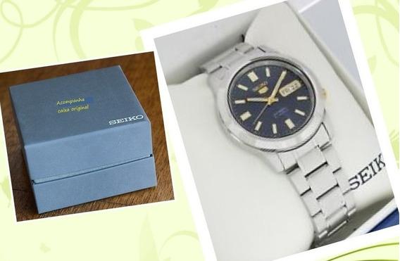 Relógio Seiko 5 Militar / Automático Pulseira Aço Snkk 11k1