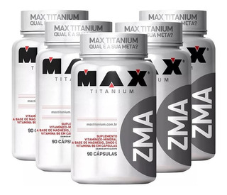5x Pré Hormonal Testosterona Zma 90caps - Max Titanium