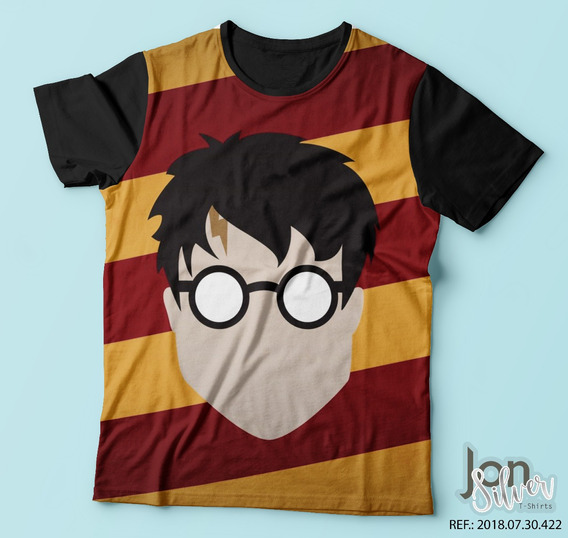 Camisa Camiseta Estampada Harry Potter Bruxo Filme