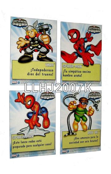 Tarjetas Spider-man Dr. Oct & Thor Marvel Super Heroes Squad