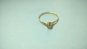 Solitário De Ouro 18k Com Diamante. Aro 19.