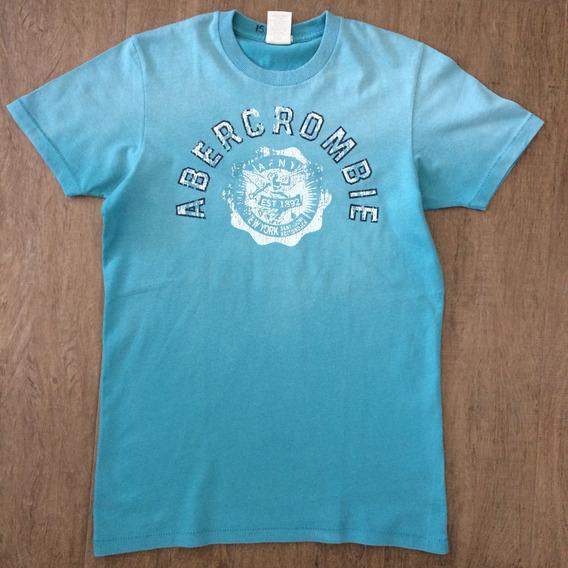 Abercrombie Fitch Camiseta Azul Turquesa P Muscle Adulto