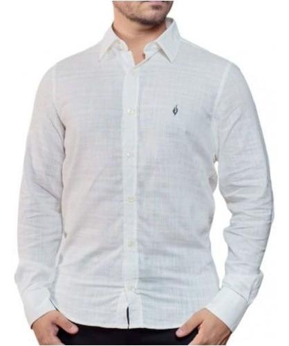 Camisa Social Lisa Lino Beige 4-gg