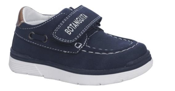 Zapatos Naúticos Azul Varón Nene Abrojo Nuevo 20/26 Hermosos