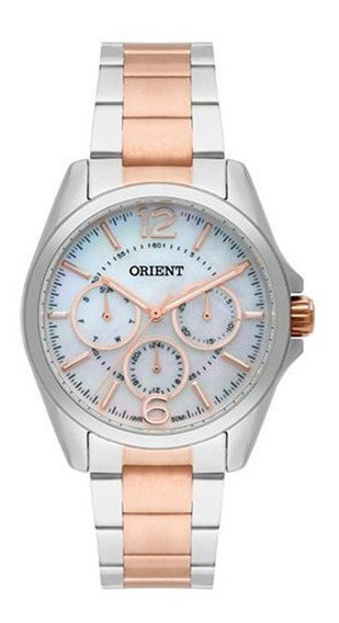 Relógio Orient Feminino Bicolor Perolado Ftssm035b2sr