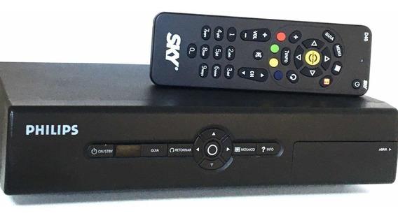 Receptor Sky Pré-pago Digital Parabólica 60cm+ Recarga Anual