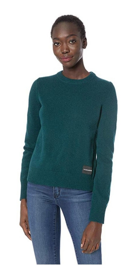 Calvin Klein - Sueter Sweater Azul Verde Mujer Talla M