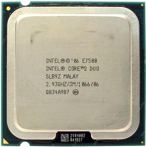 Processador Core2 Duo E7500 Usado S/ Cooler+ 02 Mem 2g